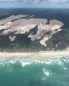 fraser island from above