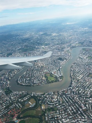 brisbane from the sky